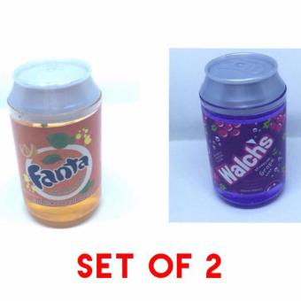Glittery Soda Jelly Transparent Slime Set of 2 Orange and Violet