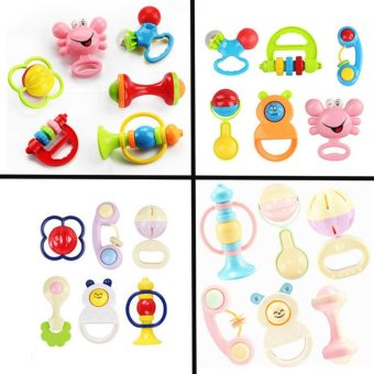 Gloden age Baby Starts Rattle 6pcs set(Multicolor) Random style