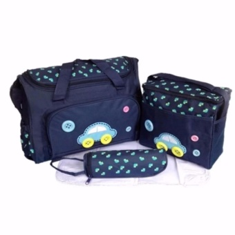 GMY 4-in-1 MUMMY Multi-Functional Baby Diaper Nappy Bag - Dark Blue