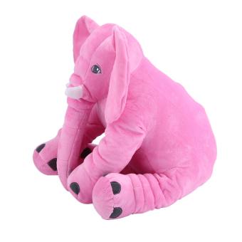 GOOD Stuffed Animal Cushion Kids Baby Sleeping Soft Pillow Toy Cute Elephant Cotton pink 28x33cm - intl - 3