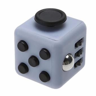 Gray + Black Fidget Cube Anxiety Stress Relief Kids Adults Desk Toy