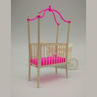 Great Fun Sweet Crib For Barbie Girls Doll Furniture Kelly Doll's Baby Doll Accessories - intl - 5