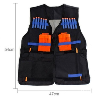 Great Fun Tactical Vest w/Storage Pocket Pockets for Nerf N-Strike Elite Gifts For Kids - intl
