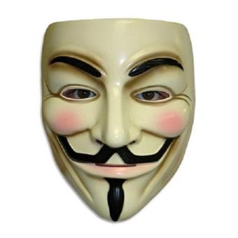 Guy Fawkes Maske for Vendetta Mask Occupy Anonymous Cosplay Karneval(yellow)