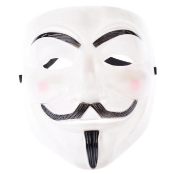 Guy Fawkes Maske for Vendetta Mask Occupy Anonymous CosplayKarneval(white)