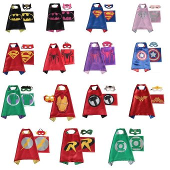 Halloween girls child costumes for kids boys party carnival cosplaybaby costume accessories clothing Clothes superhero capes(Wigs& Masks) - intl - 2