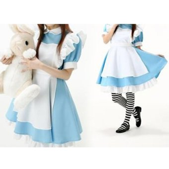 Halloween Maid Costume Alice In Wonderland Maids Outfit Fancy DressCosplay - 4