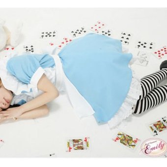 Halloween Maid Costume Alice In Wonderland Maids Outfit Fancy DressCosplay - 3