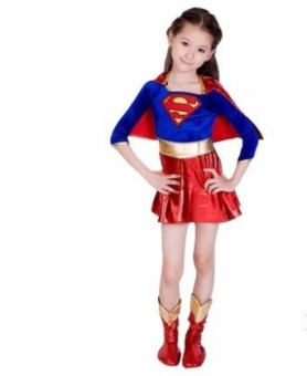 Halloween Superman Cosplay Girl's Costume