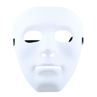 Halloween you must have it WHITE Ghosts MASK PLAIN MASKS FANCY DRESS MASQUERADE PARTY Halloween DECORATE - intl - 3