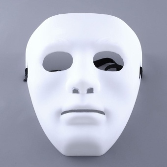Halloween you must have it WHITE Ghosts MASK PLAIN MASKS FANCY DRESS MASQUERADE PARTY Halloween DECORATE - intl
