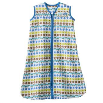 Halo SleepSack Cotton Wearable Blanket XL (Blue Cars Stripe)