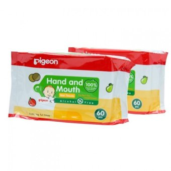 Hand and Mouth Pigeon Baby Wipes Pack of 2 for Babies & Kids60pcs/pack