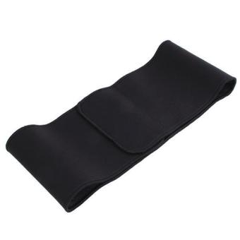 Hang-Qiao Ajustable Elastic Gym Fitness Belt Waist Support (Black)
