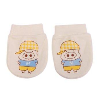 Hang-Qiao Anti-Scratch Cute Baby Gloves Newborn Infant Yellow