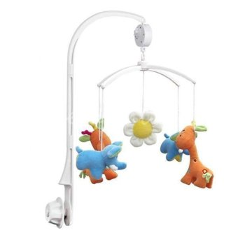 Hang-Qiao Baby Crib Mobile Bed Bell Toy Holder+Wind-up Music Box