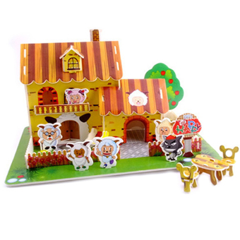 Hang-Qiao Children 3D DIY Puzzle Educational Toys Piggy Bank - picture 2