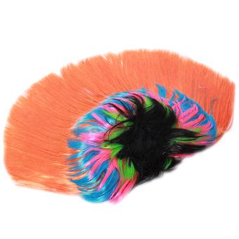 Hang-Qiao Halloween Cockscomb Cosplay Rainbow Hairpiece Orange - picture 2