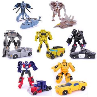Hang-Qiao Transformation Cars Robot Model Toys Kids Classic Gifts Storm - picture 2