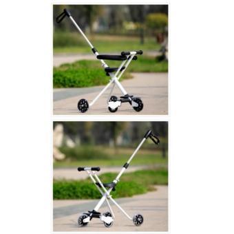 Hansen Portable Foldable 3 Wheel Kid Ride Push Car W HandleStroller Hot Deals (White) - 4
