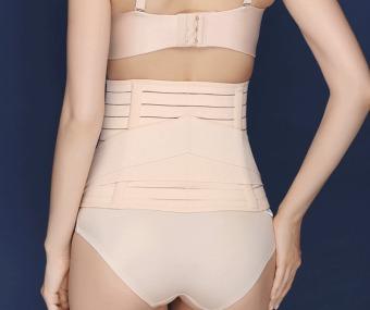 Haotom Body Shaper Waist Trimmer Postpartum Support Belt BengkungModern Corset Girdle Belts(Natural) - 3