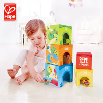 HAPE tower baby early childhood building blocks