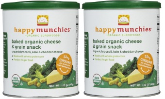 Happy Baby Baked Organic Happy Munchies 46g Bundle of 2 (Broccoli and Cheddar)