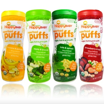 Happy Baby Puffs Kale Spinach, Banana Pumpkin, Strawberry Beet& Apple Broccoli Price Philippines