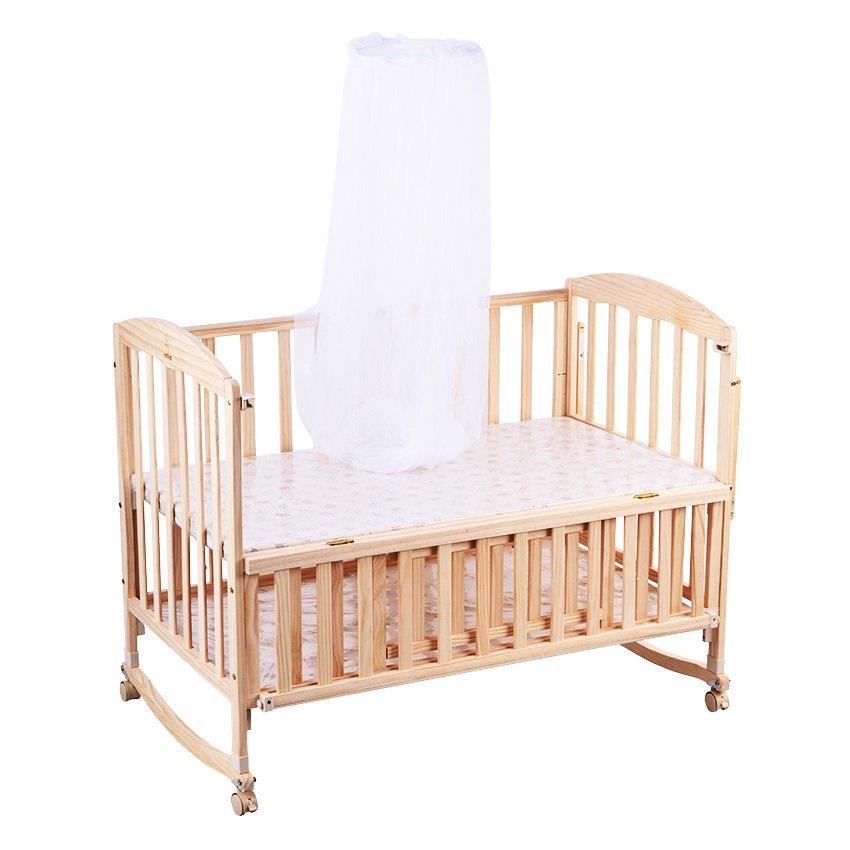- Happy Dino Luxury Rocking Wooden Crib (Natural) Lazada PH