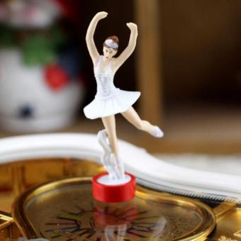 Heart Shaped Ballerina Music Box Jewelry Storage White - intl - 3