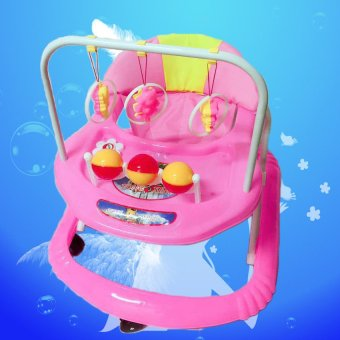 Height Adjustable Musical Soft Cushion Baby Walker