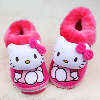 Hello Kitty winter children's warm cotton-padded shoes broken Code shoes