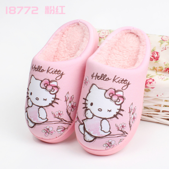Hello Kitty winter new children's non-slip cotton slippers