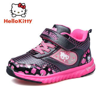 Hello Kitty Winter New style girls slip lightweight sports shoes children's shoes