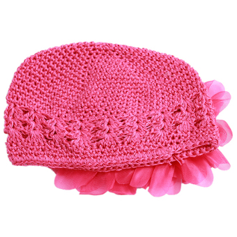 HengSong Baby Hats Flower Caps Rose Red
