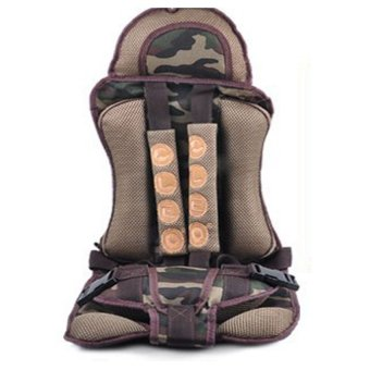 HIGH Quality Multifunctional Car Safety Harness Seat Cover Cushionfor Kids (army)