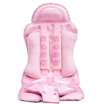 HIGH Quality Multifunctional Car Safety Harness Seat Cover Cushionfor Kids (pink)