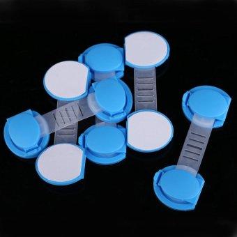 HKS 5pcs Set Baby Child Kids Drawer Cabinet Lock Short Style Safety Lock Blue - Intl - picture 2