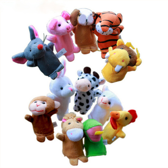 HKS Finger Doll Puppets Chinese Zodiac Animal 12pcs (Intl)