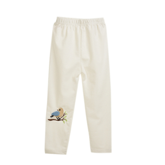 HKS Kids Skinny Pants Bird Pattern Warm White 110 (Intl)