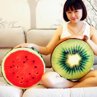 HKS Plush Toy Watermelon Orange Fruit Cushion and Pillow Cushion Sofa Bed Cushion Pillow Lovely Gift-Kiwi - Intl - picture 2