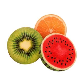 HKS Plush Toy Watermelon Orange Fruit Cushion and Pillow Cushion Sofa Bed Cushion Pillow Lovely Gift-Kiwi - Intl