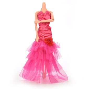 HomeGarden Fashion Fishtail Skirt For Barbie Doll Rose (Intl)