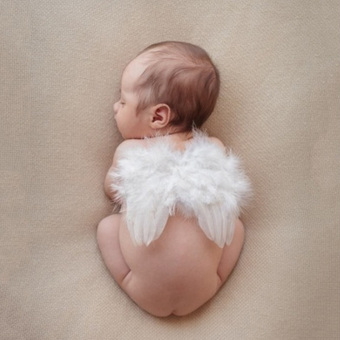 Hot 0-12Months Newborn Infant Baby Cute Angel Feather Wings Photo /Photography Props - Intl