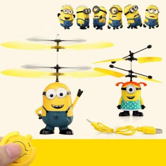 HOT Despicable ME Flying Minion Sensor +Remote Control Mini RCHelicopter Toys Price Philippines