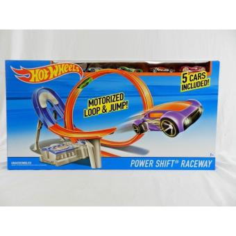 Hot Wheels Power Shift Raceway Motorized Loop & Jump - 5 CARS INCLUDED