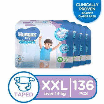 Huggies Dry Diapers XXL - 34 pcs x 4 packs (136 pcs) Price Philippines