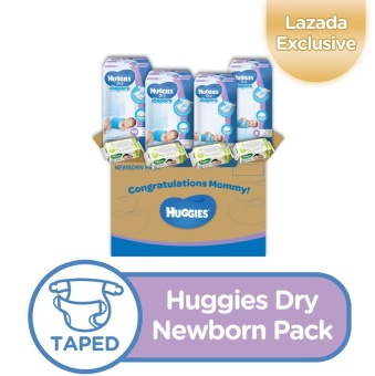 Huggies Dry Newborn Pack (NB, Small & Huggies Baby Wipes)