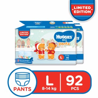 Huggies Dry Pants Large (Holiday Pack) - 46pcs x 2 packs (92 pcs)