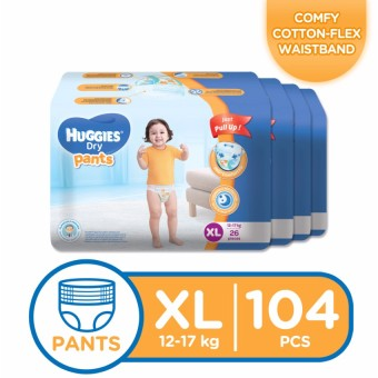 Huggies Dry Pants XL - 26 pcs x 4 packs (104 pcs)